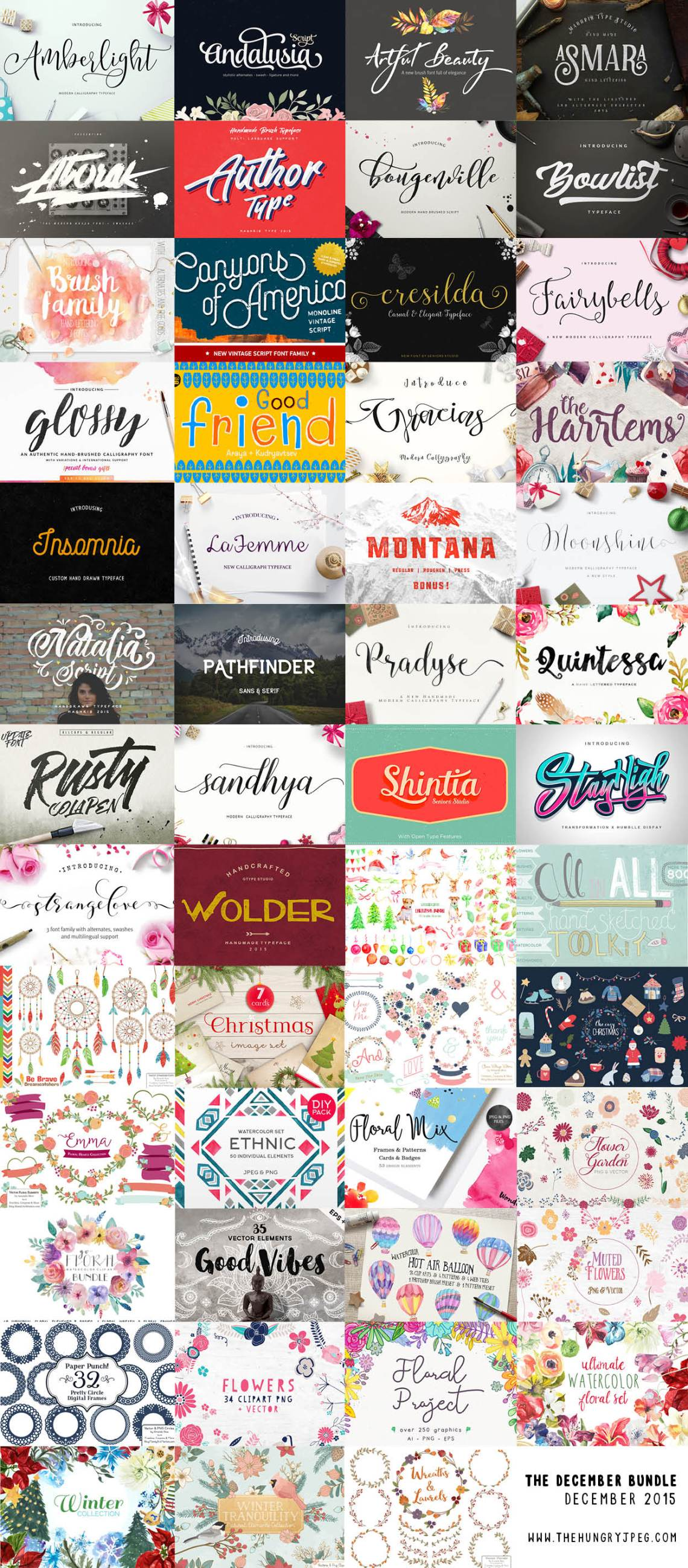 hungryjpeg_december_script_fonts_bundle_preview