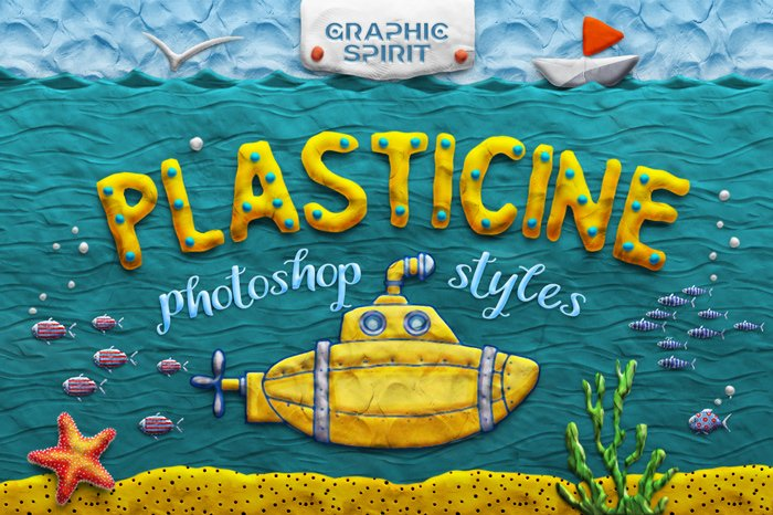 Plasticine Photoshop Styles Kit
