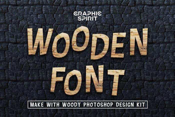 Wooden Font Design Kit