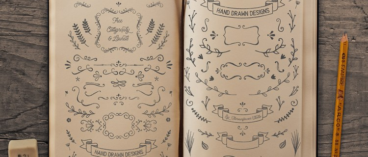 Free Laurels and Calligraphy Vector Shapes