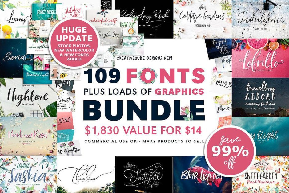 109 Fonts Bundle