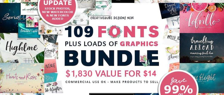 109 Fonts Bundle