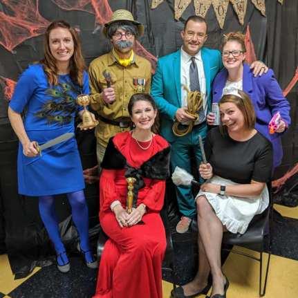 Zach Christensen as Mr. Peacock (Clue), 2019 Best Group Halloween Costume Winner