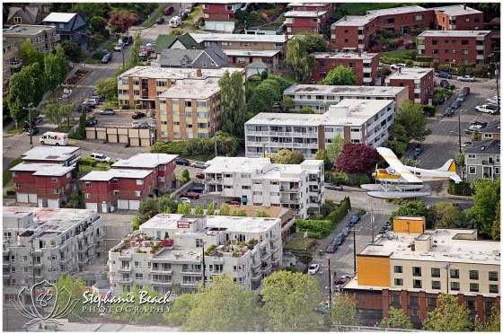 Seattle Skyline and Seaplane