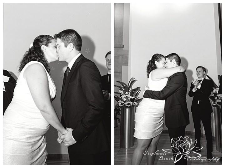Toronto-City-Hall-Wedding-Stephanie-Beach-Photography-first-kiss-civil-ceremony