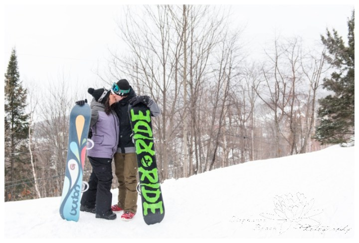 Mount-Tremblant-Engagement-Session-Stephanie-Beach-Photography-ski-lift-resort-snowboarding