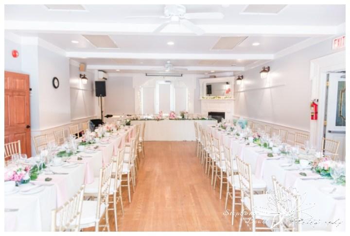 Strathmere-Inn-DIY-Wedding-Stephanie-Beach-Photography-reception-decor-gold-geometric