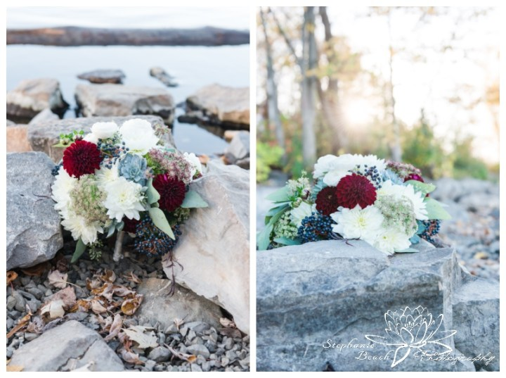 Ottawa-Fall-Wedding-Stephanie-Beach-Photography-sunflare-bouquet-rebel-petal