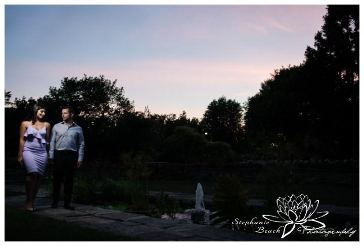 Ottawa-Ornamental-Gardens-Engagement-Session-Stephanie-Beach-Photography-sunset-night