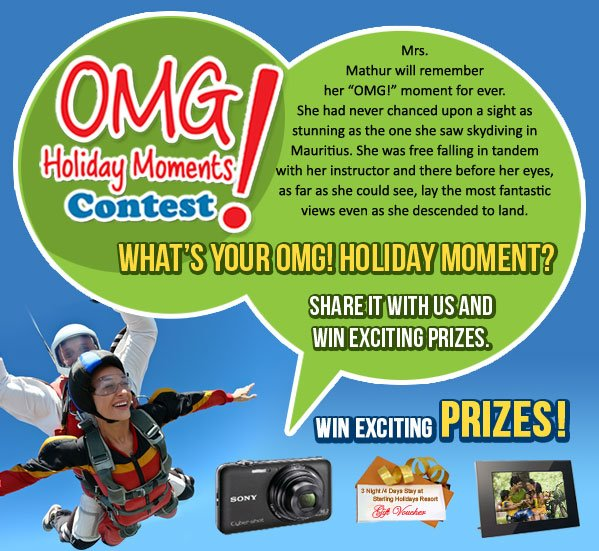 OMG Holiday Moments Contest-Sterling Holidays