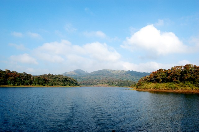 thekkady lake boating- Back view Images