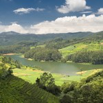 Scenic mountains and lakes in Doddabetta, Ooty