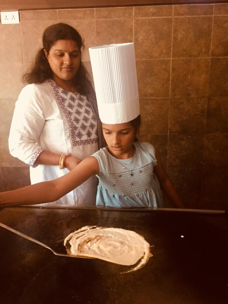 Dosa making at sterling kufri