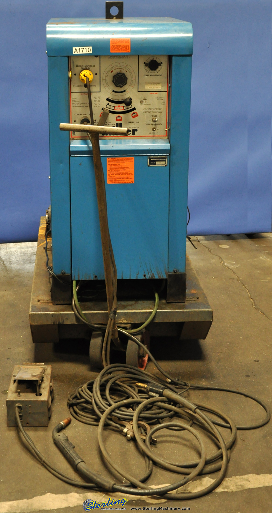 hight resolution of a1710 300 amp used miller tig welder mdl 330 a bp sterling machinery at cita