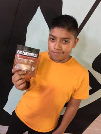 Ricky is 13 and has been working out with Steve's Club for one year. He loves the new Maple Sweet Potato PaleoKrunch Bar. The next 500 orders will receive TWO free! One for you and one for a friend.