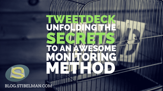 Twitter is fast. Really fast. If you let days pass without noticing what's happening with your profile, that's bad. Really bad. Here's a few pointers for how to use TweetDeck for social media monitoring like a pro!