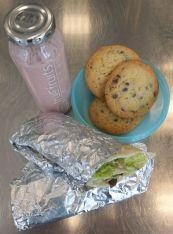 Putenwrap Chocolate-Chip-Cookies Erdbeer-Bananen-Smoothie