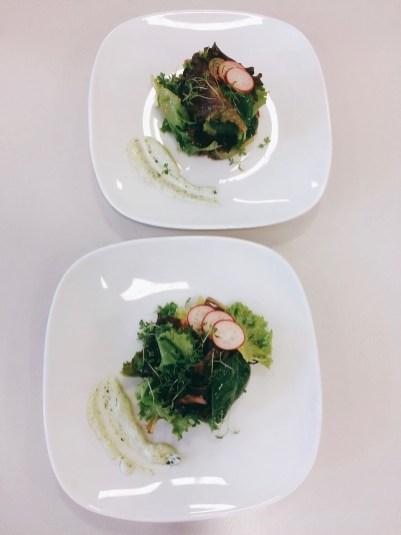 Salat mit Radieschen-Vinaigrette