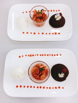 Schokoladentörtchen mit Sauerrahmeis