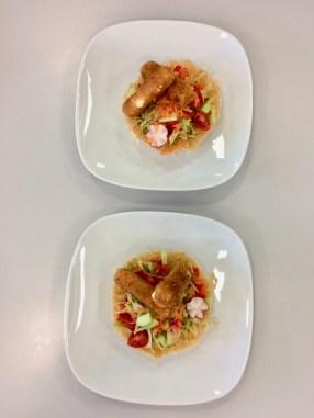 Salat mit gebackenem Gouda