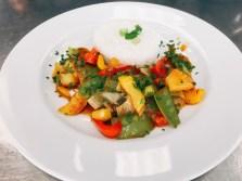 Gemüse süß-sauer mit Jasmintees