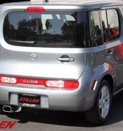2009 2010 nissan cube exhaust system stillen [ 1200 x 800 Pixel ]