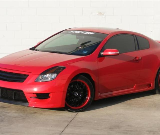 Stillen Altima Coupe Fascia With Stillen Side Skirts Custom Painted Wheels