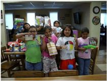 The kids in the St. Joseph's Indian School's summer homes are having a great summer!