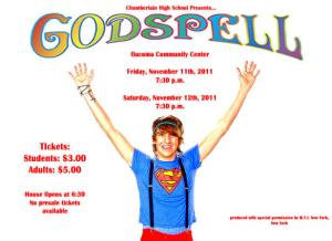 "Chamberlain High School put on the musical ""Godspell""."