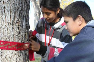 Our Student Leadership Committee decorated campus with red ribbons during Red Ribbon Week.