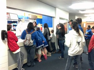 The Rec center operates a concession stand during games with the help of St. Joseph's high school students.