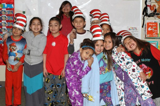 St. Joseph's students celebrated Dr. Seuss' birthday in school.