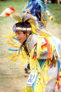 A boy dances during St. Joseph's Annual Powwow.
