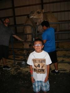 The Lakota(Sioux) students enjoyed feeding the camel.