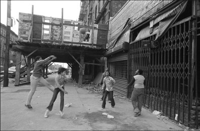 Photo: Using a Milk Crate as a Basketball Hoop