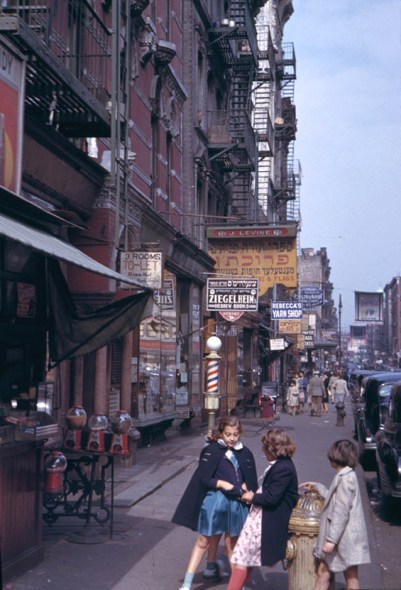 Photo: Lower East Side, 1942, by Charles Cushman.