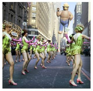 Photo: The Rockettes Perform at the Macy's Thanksgiving Day Parade in New York City on November 24, 1966