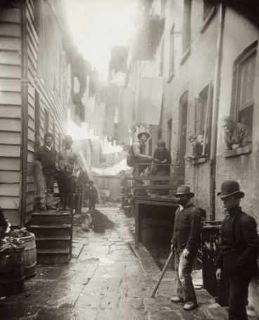 Photo: 59 and 1/2 Mulberry Street, c1890, by Richard Hoe Lawrenece with Jacob Riis