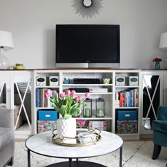 Diy Living Room Country Rooms Uk Easy Hacks To Get More Space Storage Com Tv And Books On Console