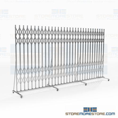 Portable Folding Security Gates for Building Hallways