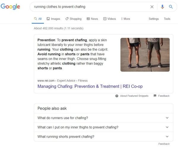 putting Wikipedia terms in google