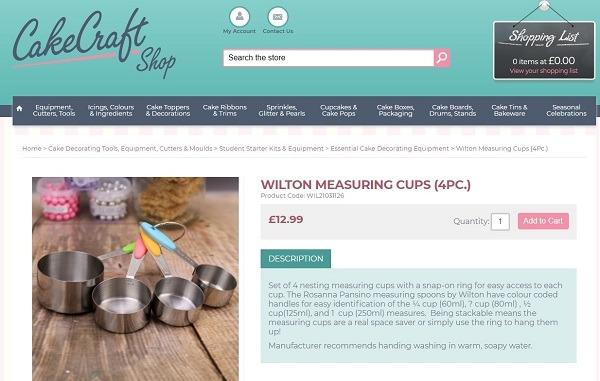 online baking tools store