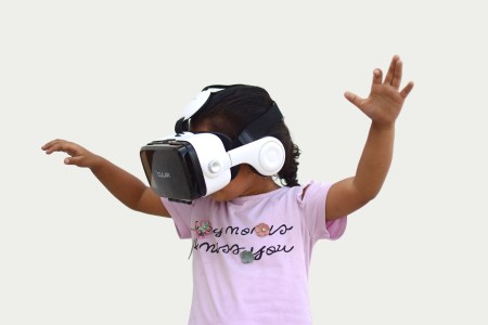 girl with virtual reality headset