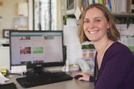 teacher using digital technology