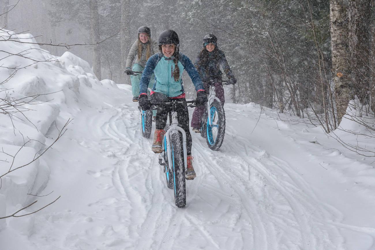 Fat Biking at Stratton Mountain Vermont