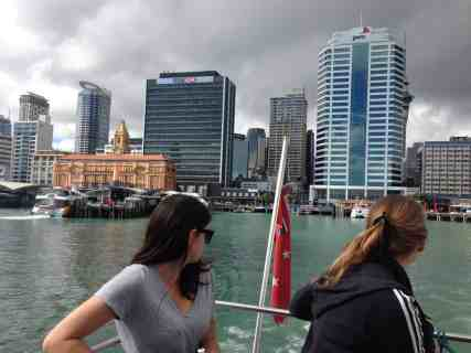 Leaving Auckland Harbour