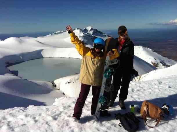Powder love at the summit of Mt Ruapehu