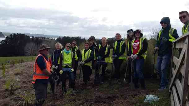 The Stray team with Conservation Volunteers New Zealand