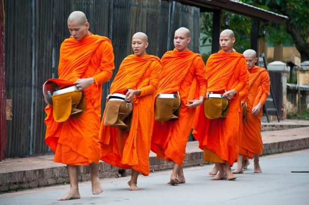 Luang Prabang, Laos, Alms Ceremony