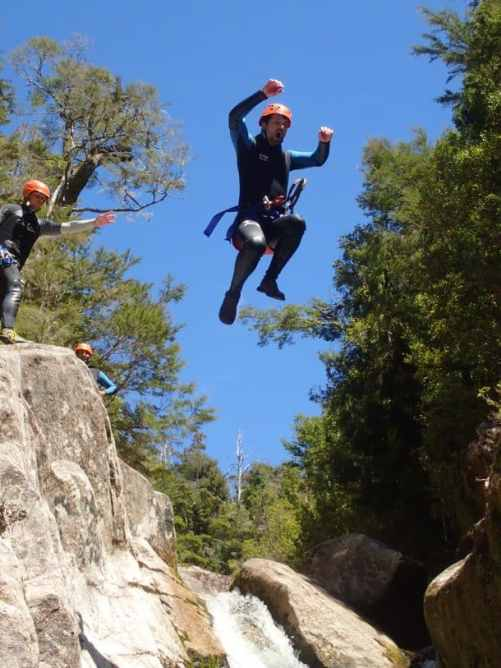 Abel Tasman Canyons Torrent River 8 metre jump